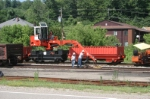 Installing new rail at Corning, Ohio