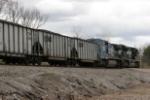 NS 8358 helper set shoves hard on their train