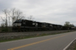 NS 9932 leads NS train 380 south past Arbuckle