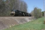 NS 9140 pushes NS train 699 towards Corning and the hill at Moxahala