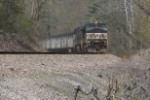 NS 9140 pushes NS train 699 towards Corning and the hill at Moxahala
