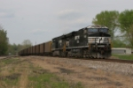 NS 7610 shoves a train north