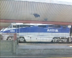 Amtrak (F59PHI) #459 waiting in the station