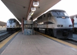 A Double-Headed engine train and 897's train sitting in L.A Union Station
