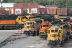 BNSF 2213 and mates wait for assignment - Amarillo Roundhouse