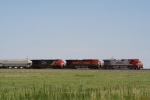 BNSF 735 WB passes the Pantex plant E of Amarillo