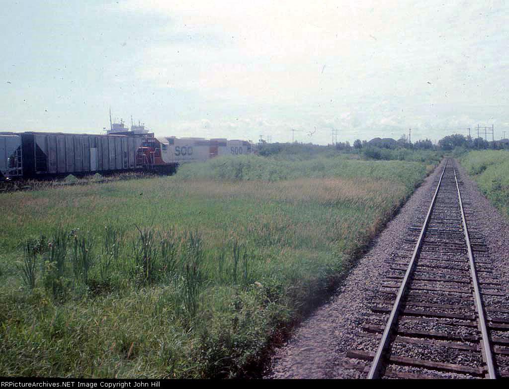 1287-12 Riding northbound Amtrak North Star