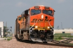 BNSF 5919 leans into the curve preparing to past M.P 78.