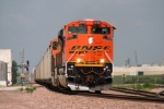 BNSF 9265 leads a EB surge past M.P 78 on the Ravenna Sub.
