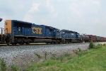 CSX 4710, HLCX are 2nd and 3rd engines on Q525 south 7/18/08