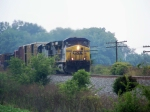 CSX 549 leads Q574 north from Woodburn toward Rich Pond 7/18/08