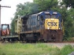 CSX 5512 leads WO31 south with MOW equipment 7/18/08