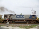 CSX 5512 heads south with WO31 MOW equipment 7/18/08