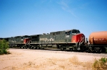 3 Dash's doing switching duties north of Mojave airport on the Lone Pine Branch