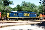 CSX SD40-2 8043 is the fourth unit on this eastbound