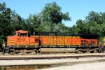 BNSF C44-9W 5513 is the seventh and final unit on this eastbound.