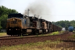 CSX C44-9W 9030 leads an empty coal run into Don Ball Curve