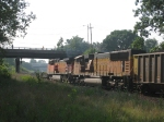 BNSF Coal Train Slowing-Down