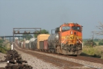 BNSF 4145 is used today as a DPU on a EB manifest.