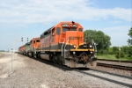 BNSF 6839 dressed in its new paint, Leads a Hot B- Train onto the La Juanta Sub