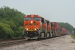 BNSF 7597 is seen here leading a S-Train West.