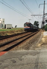 AMTK 921 pulls eastbound Keystone