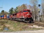 CP 102 South on the CN Bala Sub North of Parry Sound May 4/08