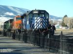 MRL 204 preparing to couple up to freight