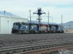 MRL locomotives at fuel station