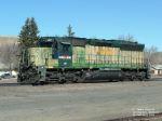 MRL 367 SD45 awaiting coal drag