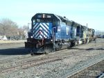 MRL 331 SD45-2 backing into the yard