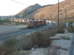 BNSF train coming down Cajon Pass