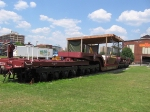 Flat Car turned stage