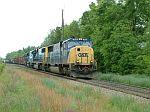 CSX Train Q692 exits the siding