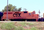 CSX 9707 on a SB freight