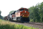 BNSF 9275 with 1 dead engine and 115 loaded coal gons