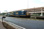 CSX 2356 hooks onto the first section of the Circus Train on the south end of the Port Lead.