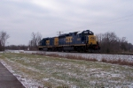CSX 2320, CSX 6491 run light southbound at Memphis Junction Rd just south of the yard