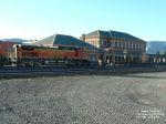 BNSF 4152 sitting at the Livingston Depot