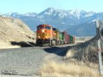 BNSF 4105 heading towards Bozeman Pass