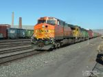 BNSF 4105 C44-9W rolling through railyard