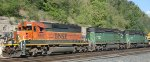 BNSF headed west past St Paul Daytons Bluff.