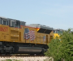 Brand new UP#8656 SD70 ACe hiding in brush
