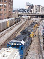 """CSX train with UP leader head """"underground"""""""
