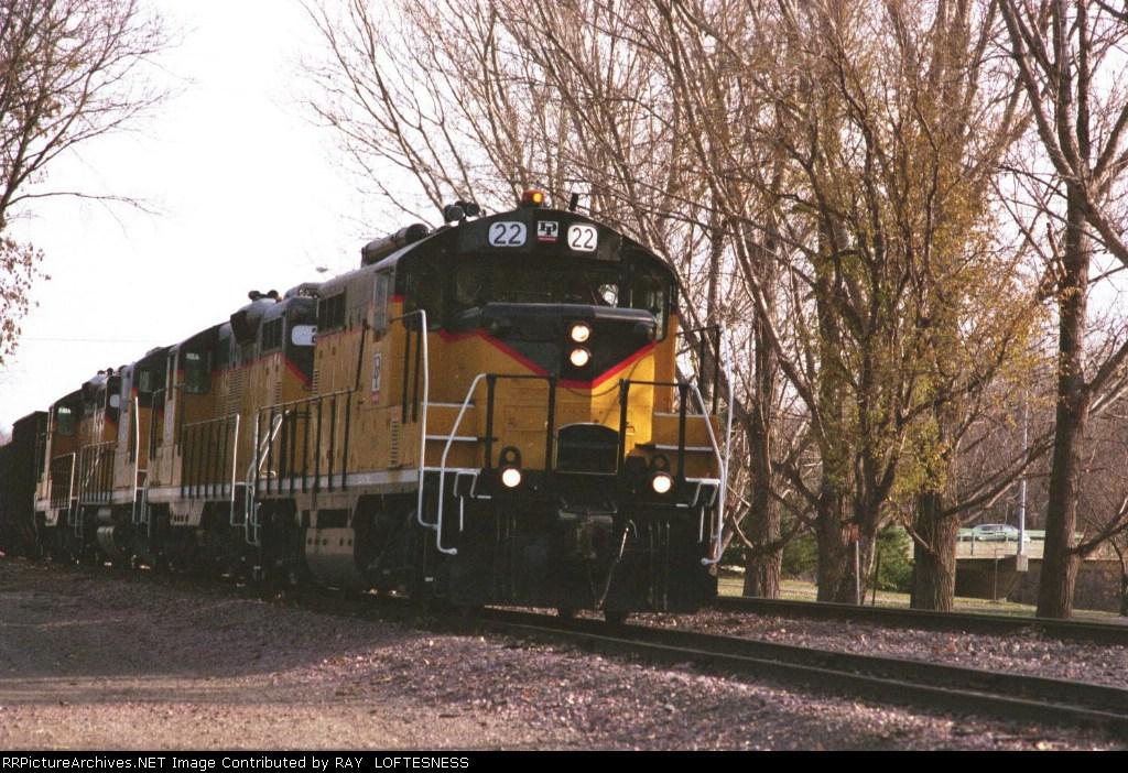 #22 on the Dakota & Iowa Railroad, headed south to Sioux City, Iowa