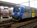 SNCF RRR 02140 en Gare SNCB Tournai. Train Arret pour Lille Flanders en France. SNCF RRR 02140 im Station NMBS Doornik. Stoptreinen Naar Rijssel Vlaanderen im Frankrijk. SNCF RRR 02140 with Stopping Train to Lille Flanders in France