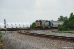 CSX 2356 passes Blade hubs in the siding at General Electric's Pensacola Plant.