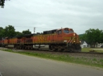BNSF 5492 leads an eastbound intermodal
