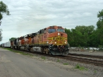 BNSF 4604 accelerates after meeting the westbound