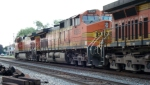 BNSF 4509 trails 5402